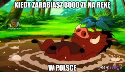 Kiedy zarabiasz 3 tys. na rękę w Polsce