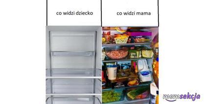 Jak lodówkę widzi mama, a jak widzi ją dziecko