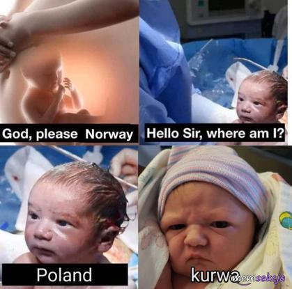 Czy urodziłem się w Norwegii?
