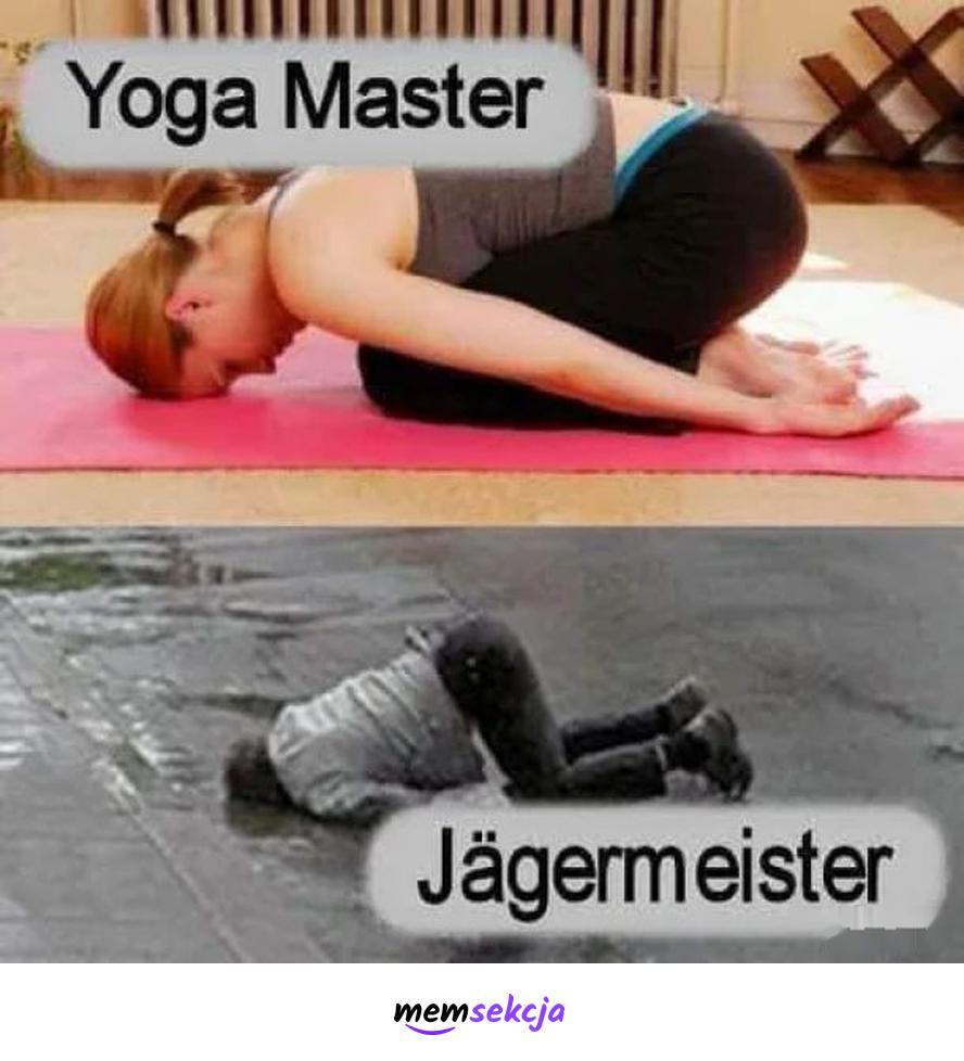Yoga Master vs Jagermeister. Memy