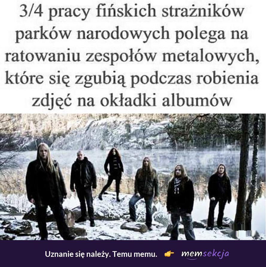 Fińskie zespoły metalowe gubią się robiąc zdjęcia na okładki albumów. Memy. Finland