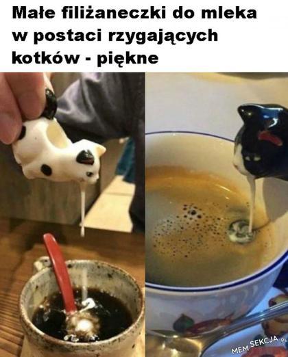 odpowiednia ilość mleka