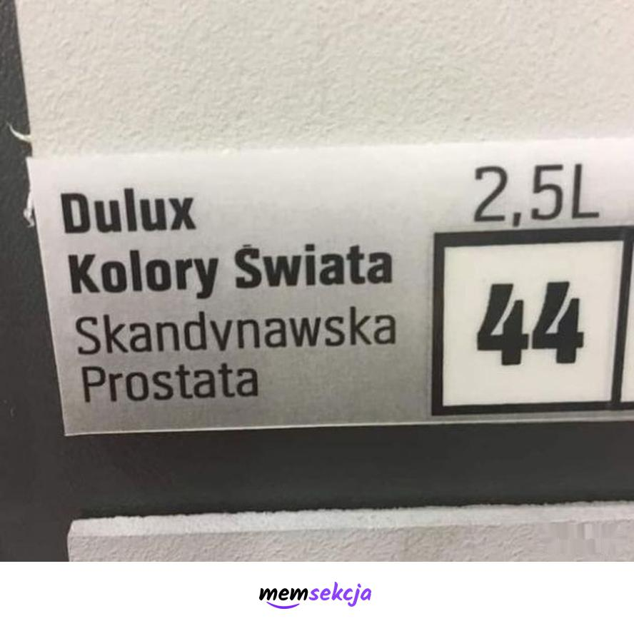 """Dulux """"Skandynawska Prostata"""". Śmieszne"""