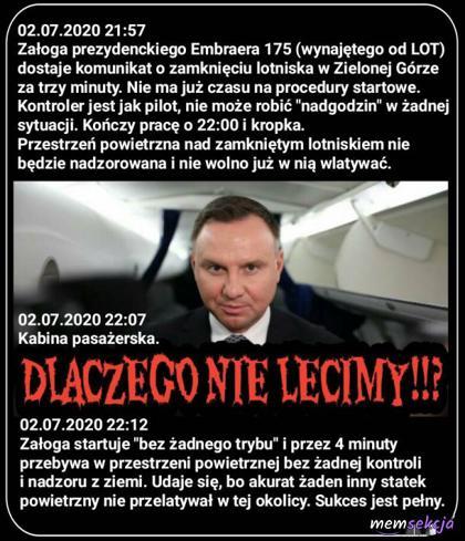 Sukces prezydenckiego samolotu