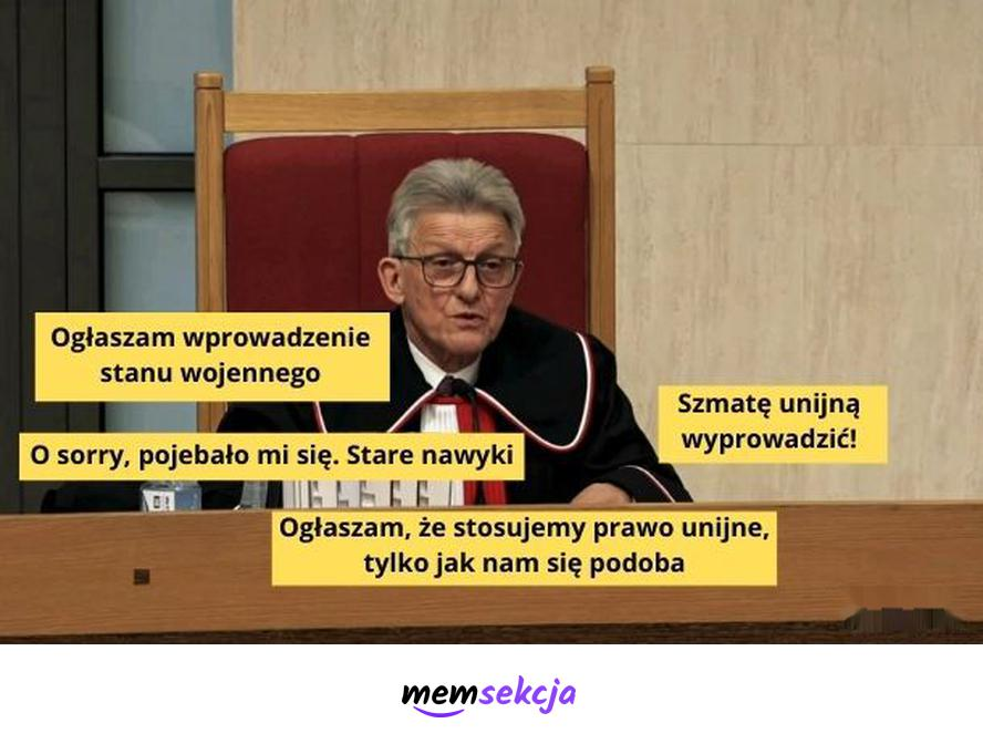 Ogłoszenie w Trybunale. Śmieszne. Stanisław  Piotrowicz. Trybunał  Konstytucyjny. Unia  Europejska