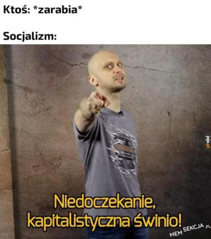 Socjalizm kiedy ktoś zarabia