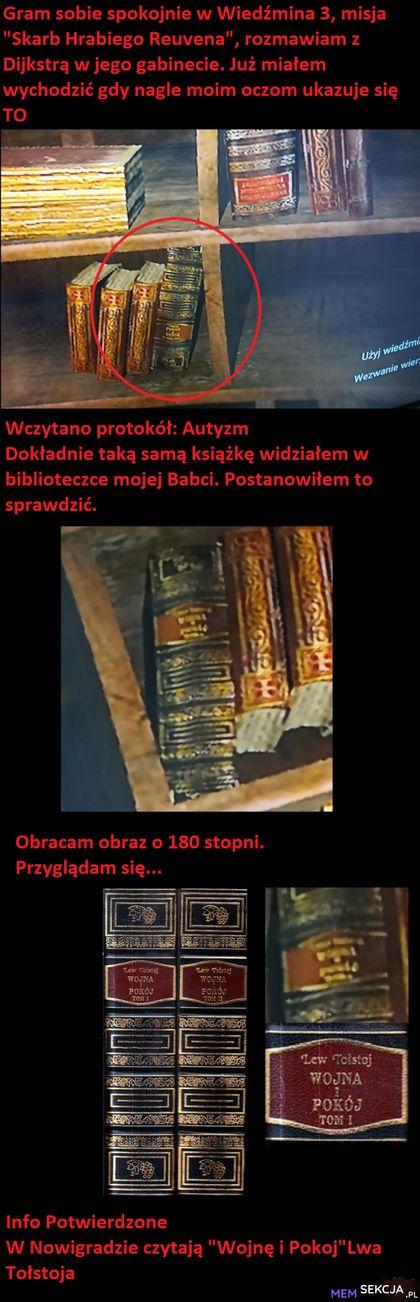 W Wiedźminie 3 w Nowigradzie czytają Lwa Tołstoja