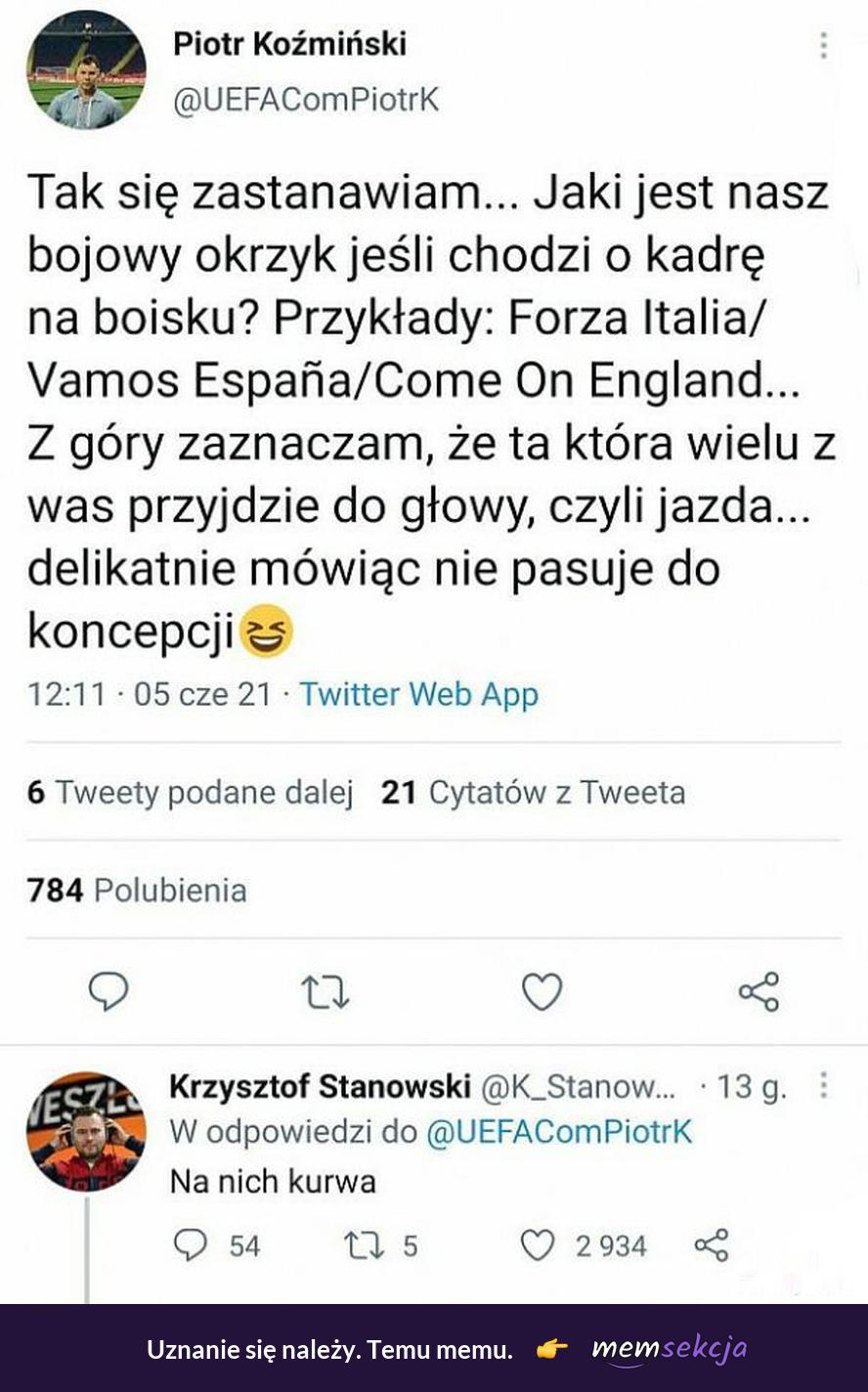 Bojowy okrzyk reprezentacji Polski