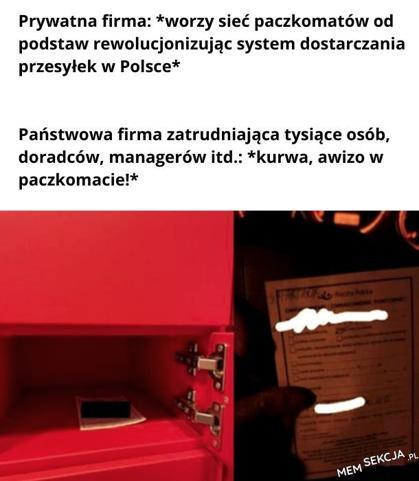 Awizo w paczkomacie poczty polskiej