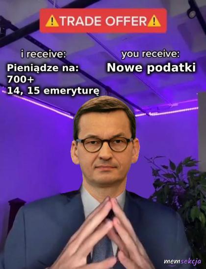 Propozycja od Morawieckiego