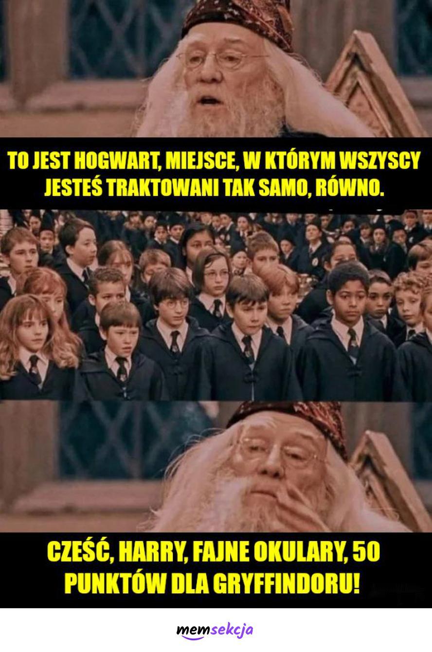 W Hogwarcie wszyscy są równi. Harry Potter. Hogwart. Albus  Dumbledore