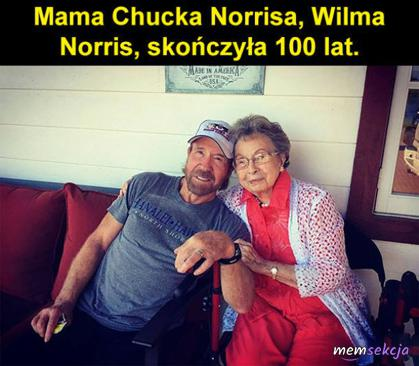 Mama Chucka Norrisa skończyła 100 lat