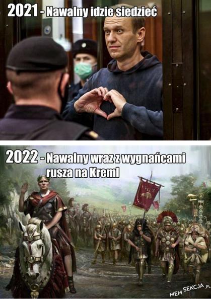Nawalny rusza na Kreml. Memy. Nawalny
