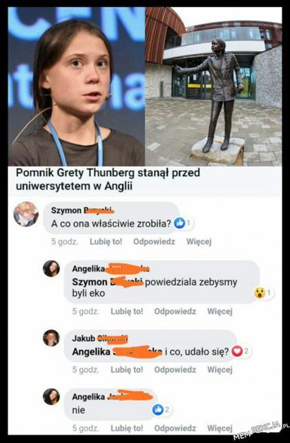 Pomnik Grety Thunberg
