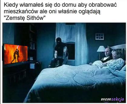 Kiedy oglądasz film na włamie