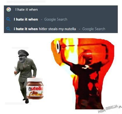 Hitler kradnie moją Nutelle
