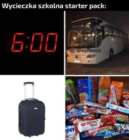 Wycieczka szkolna starter pack