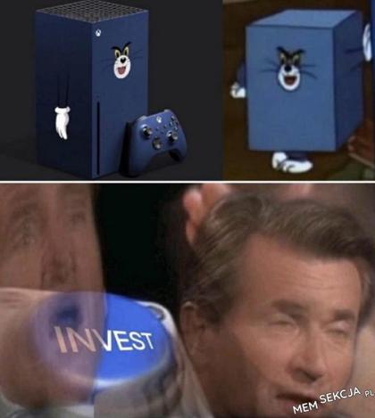 Xbox nawiązujący do Toma z Tom&Jerry. Śmieszne. Invest. Tom  I  Jerry