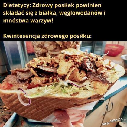 Kebab to kwintesencja zdrowego posiłku