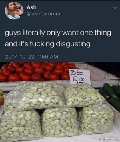 Faceci myślą tylko o tym. Śmieszne. Guys  Literally  Only  Want  One  Thing. Bób