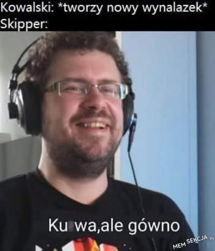 Skipper kiedy Kowalski tworzy nowy wynalazek