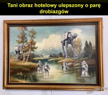Obraz hotelowy z gwiezdnych wojen