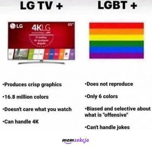 LG TV+ vs LGBT+. Śmieszne. Lgbt
