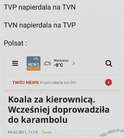 Polsat to jedyna stacja, którą się przyjemnie ogląda