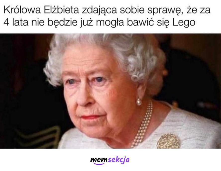 Królowa Elżbieta za 4 lata nie będzie już mogła bawić się Lego. Memy. Królowa  Elżbieta