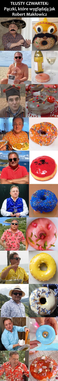 Pączki, które wyglądają jak Robert Makłowicz