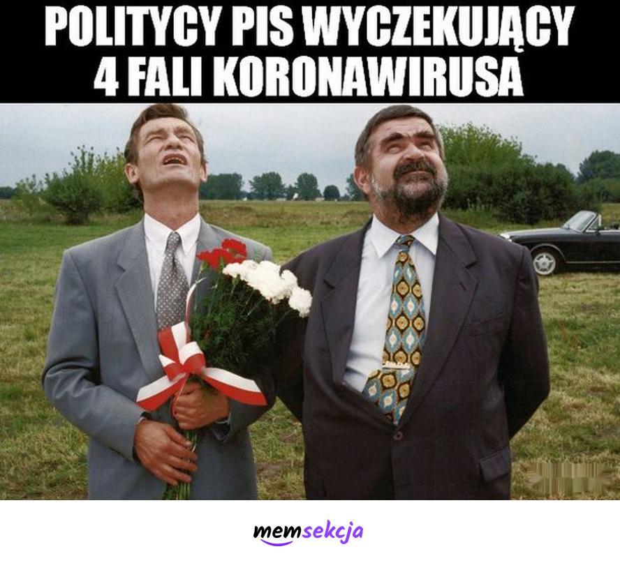 Politycy PiS czekający na 4 falę. Memy. Pis. 4fala