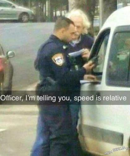 prędkość jest względna
