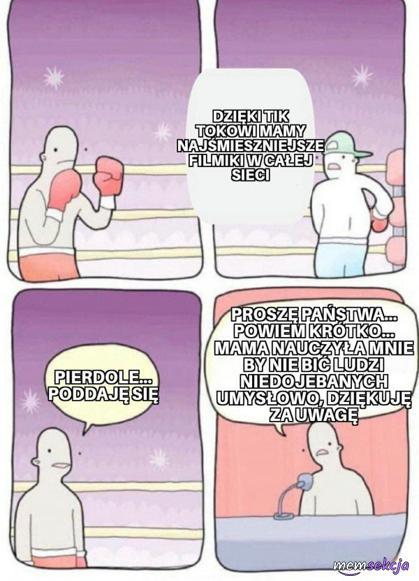 Oddał walkę walkowerem