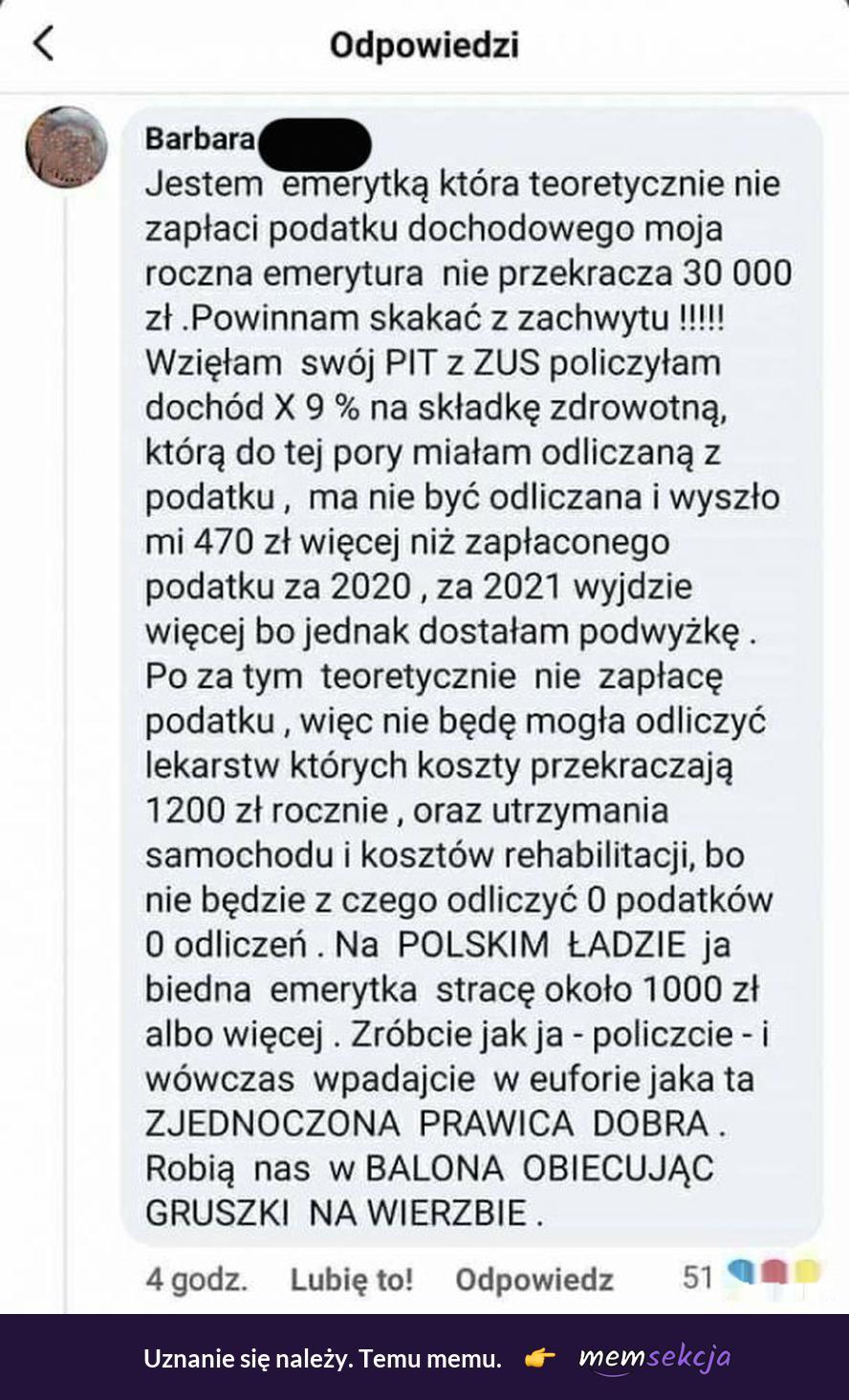 Nawet emerytom polski ład się nie opłaca. Memy. Polski  Ład. Nowy  Ład. Emerytura