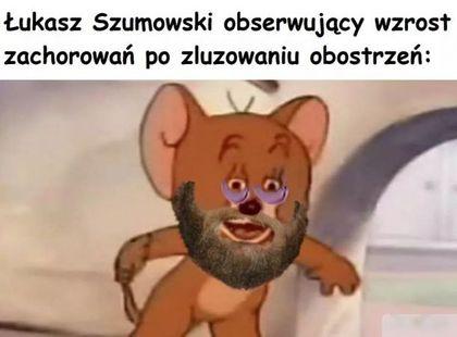 Łukasz Szumowski obserwujący wzrost zachorowań