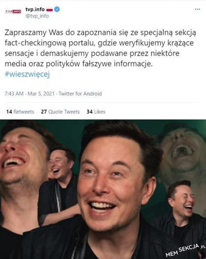 Sekcja fact-checkingowa na TVP Info