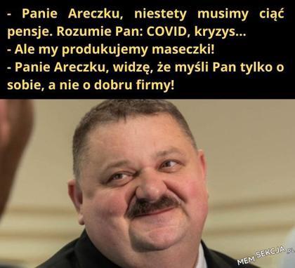 Panie Areczku, niestety musimy ciąć pensje