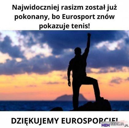 Eurosport w pojedynkępokonał rasizm swoim debilnym bojkotem. Sport. Poprawność  Polityczna  Memy. Eurosport. Tenis