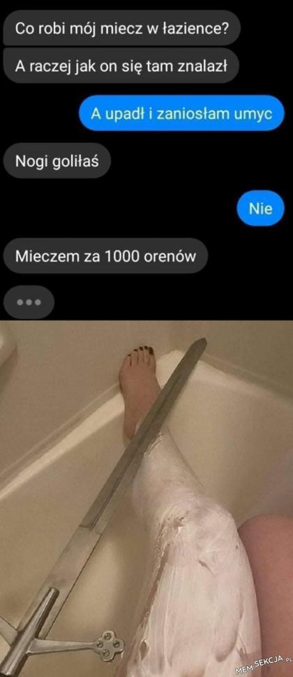 Goliła nogi mieczem za 1000 orenów