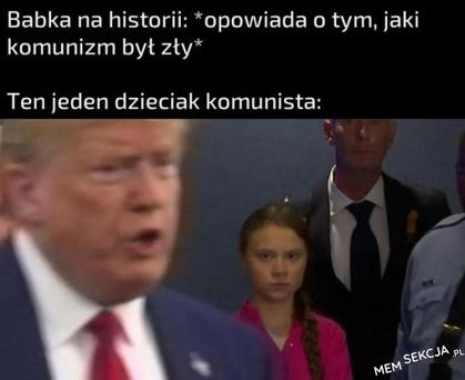 Ten jeden dzieciak komunista