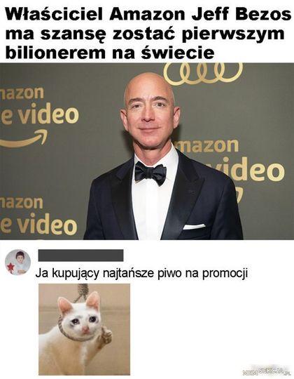 Jeff Bezos pierwszym bilionerem?