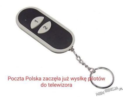 Poczta polska zaczęła już wysyłkę nowych pilotów do TV