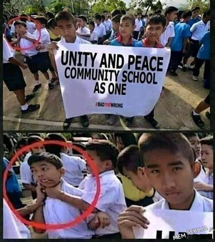 Unity and Peace. English. Zaprzeczenie