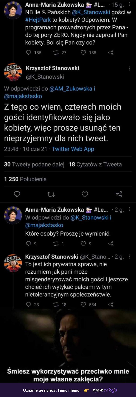 Stanowski zniszczył Żukowską