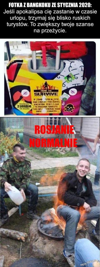 Rosjanie zwiększają szanse na przeżycie. Memy. Rosjanie