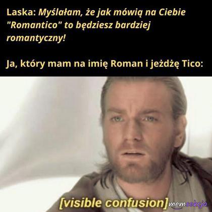 Romantyczny Roman jeżdżący Tico