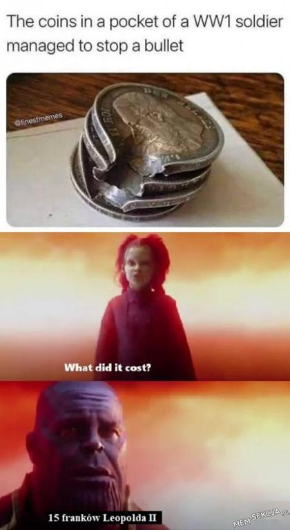 Monety uratowały mu życie