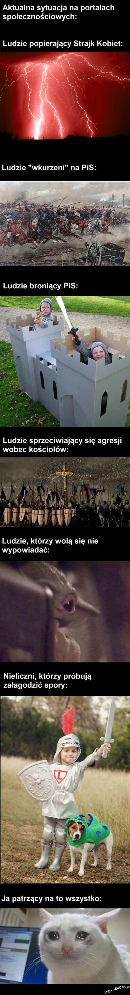 Serio, polski internet i ulica są teraz jakaś tragedią