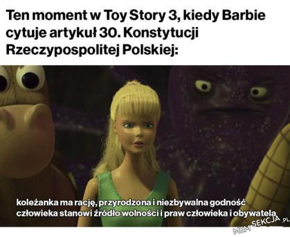 Barbie cytuje konstytucje