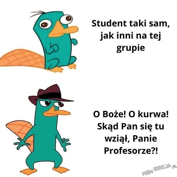 Skąd pan się tu wziął panie profesorze?